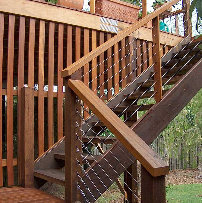 Brisbane decks and stairs, timber stairs